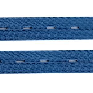 Élastique boutonnière bleu, 15 mm