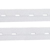 Élastique boutonnière blanc, 20 mm