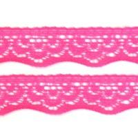 Elastique dentelle, coloris rose, motif B, 20mm