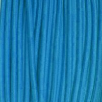 Élastique rond 2 mm bleu turquoise
