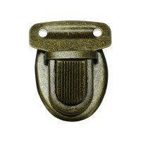 Fermoir bronze façon cartable pour sac, 35 mm x 25 mm modele K