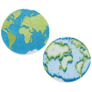 Ecusson thermocollant planète terre