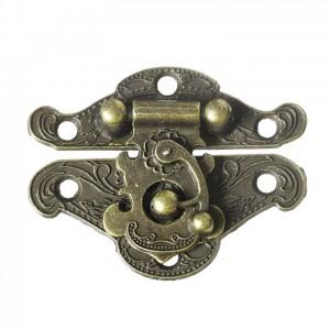 Fermoir serrure pour valise ou boite coloris bronze antique, inspiration chine