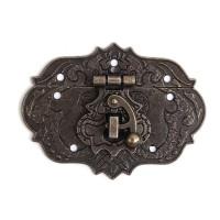Fermoir arrondi serrure pour valise ou boite coloris bronze antique, inspiration chine