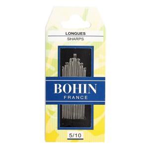 Assortiment de 20 aiguilles longues 5/10, Bohin pour couture à la main