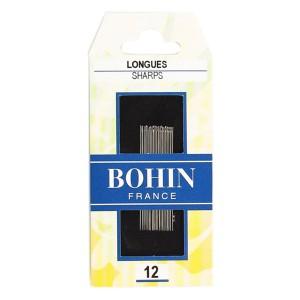 Assortiment de 20 aiguilles longues taille 12, Bohin pour couture à la main
