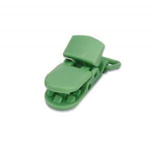 Pince attache Tétine plastique, coloris vert (2 pièces)