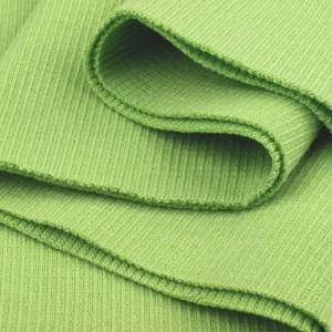 Bord Côte, Jersey tubulaire, coloris vert tendre, coupon de 16x80cm