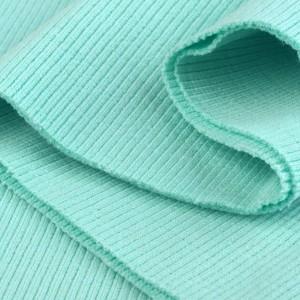 Bord Côte, Jersey tubulaire, coloris vert menthe, coupon de 16x80cm