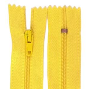 Fermeture éclair jaune bouton d'or, 14 cm