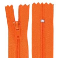 Fermeture éclair orange, 14 cm
