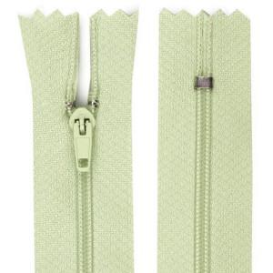 Fermeture éclair vert sauge, 14 cm