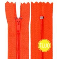 Fermeture éclair Orange Corail Fluo, 20 cm