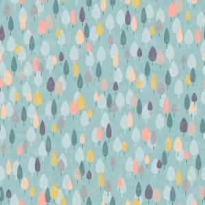 Tissu Paysage Forêt, collection Coton lifes Journey designer Dashwood Studio ( x 50cm)
