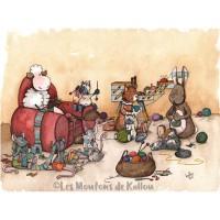 Carte de correspondance, atelier de tricot des Moutons