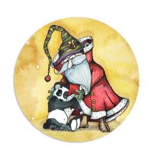 Modèle Câlin du Père Noël à son petit Panda