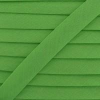 Biais coton vert fenouil, pré-plié 20mm, col007