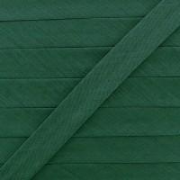 Biais coton vert bouteille, pré-plié 20mm, col008