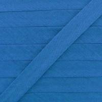 Biais coton bleu, pré-plié 20mm, col014