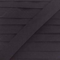 Biais coton gris acier, pré-plié 20mm, col016