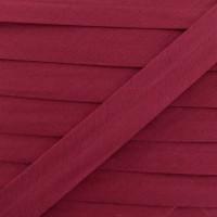 Biais coton rouge bordeau, pré-plié 20mm, col018