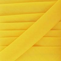 Biais coton jaune bouton d'or, pré-plié 20mm, col020
