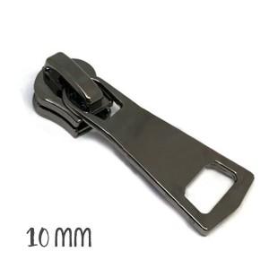 Curseur gun métal pour Fermeture éclair vendue au mètre (pour maille de 10mm)