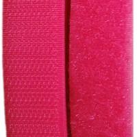 Velcro rose framboise, scratch ( x 50cm)