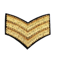 Ecusson thermocollant stripes militaire Sergent Pepper
