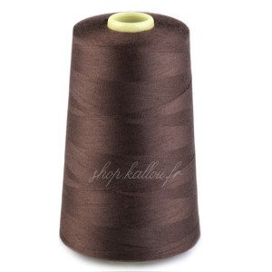 Cône de fil marron foncé polyester, 4500 mètres
