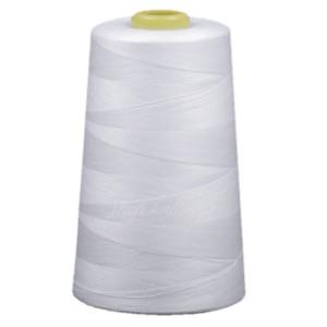 Cône de fil blanc polyester, 4500 mètres