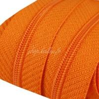 Fermeture éclair Orange, dents de 3mm, fermeture au mètre, vendue par tranche de 25cm (sans tirette)