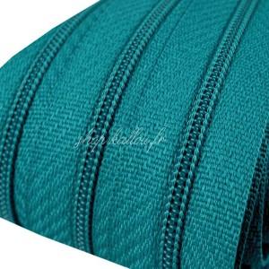 Fermeture éclair Vert Canard, dents de 3mm, fermeture au mètre, vendue par tranche de 25cm (sans tirette)