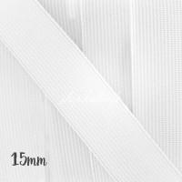 Élastique plat blanc, 15mm