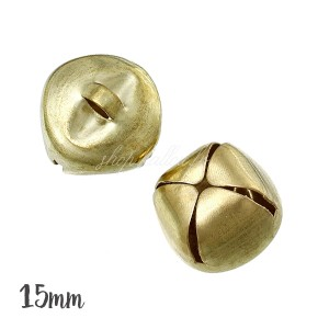Grelot cloche or 15mm, lot de 5