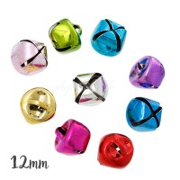 Grelot cloche multicolore 12mm, lot de 5 (couleur au hasard)