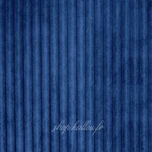 Tissu Minky doudou cotelé 5mm, coloris bleu roi, très doux