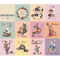 """Panneau livre """"au fil des lettres"""", thème couture designer Les Moutons de Kallou"""