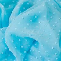 Tissu Mousseline Plumetis bleu ciel (x 50 cm)