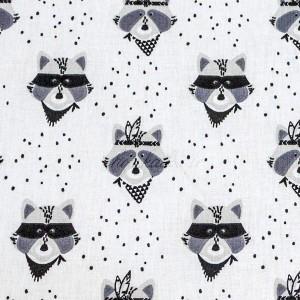 Tissu Jersey Bio, motif Ratons Apaches, designer Domotex ( x 50cm)