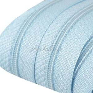Fermeture éclair Bleu ciel, dents de 3mm, fermeture au mètre, vendue par tranche de 25cm (sans tirette)