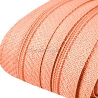 Fermeture éclair rose saumon, dents de 3mm, fermeture au mètre, vendue par tranche de 25cm (sans tirette)