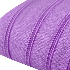 Fermeture éclair violet lilas, dents de 3mm, fermeture au mètre, vendue par tranche de 25cm (sans tirette)