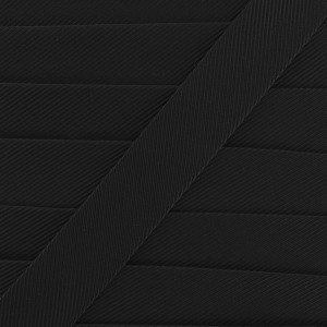 Gros Grain noir, 9mm