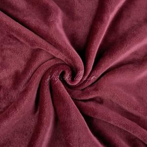 Tissu doudou peluche, coloris rouge bordeaux (x 50 cm)