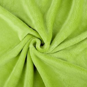 Tissu doudou peluche, coloris vert anis (x 50 cm)
