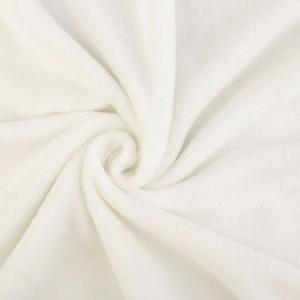 Tissu doudou peluche, coloris blanc (x 50 cm)