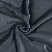 Tissu doudou peluche, coloris gris foncé (x 50 cm)