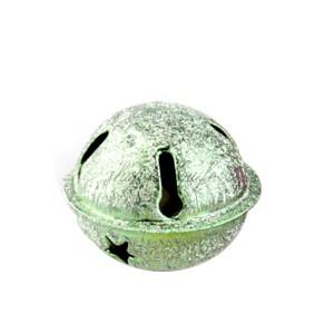 Grelot givré coloris vert étoile Noel 24mm