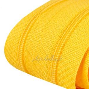 Fermeture éclair jaune, dents de 3mm, fermeture au mètre, vendue par tranche de 25cm (sans tirette)